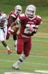 Image of Guilford College football player